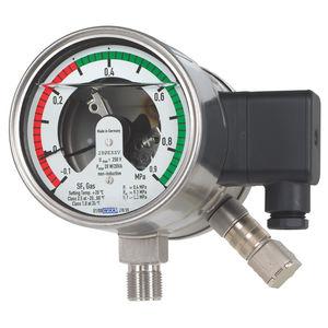 manómetro de esfera / de tubo Bourdon de líquido / para SF6 / con contacto eléctrico