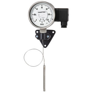 termómetro de expansión de gas de capilar / de gas / analógico / para montaje en superficie