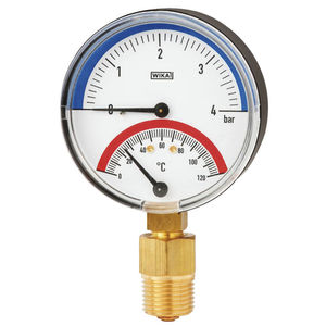 termómetro bimetálico / analógico / para enroscar / de esfera