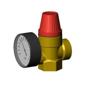 válvula de seguridad para aire comprimido / para agua / de rosca