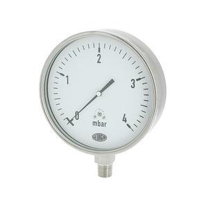 manómetro analógico / de cápsula / para gas / de acero inoxidable