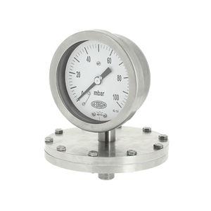 manómetro analógico / de membrana / para gas / de acero inoxidable