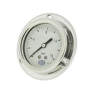 manómetro analógico / de tubo Bourdon / para gas / de acero inoxidable