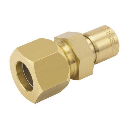 adaptador hidráulico / para tubos / hembra-acanalado / de latón