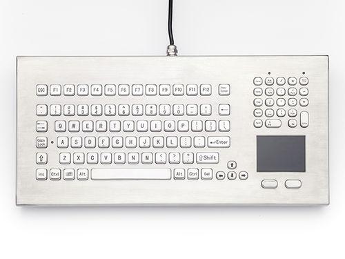 teclado de mesa / con alfombrilla táctil / de acero inoxidable / NEMA 4X