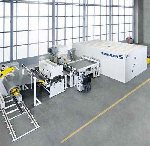 línea de corte láser / para aluminio / para acero / automática