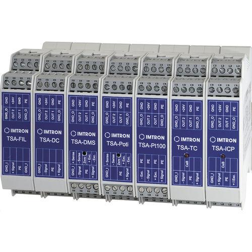 acondicionador de señal en riel DIN / analógico / para galga extensiométrica