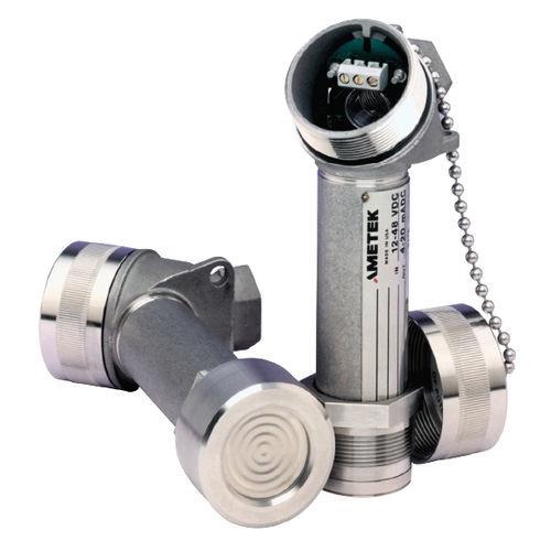 transmisor de presión relativa / de membrana / analógico / con membrana aflorante