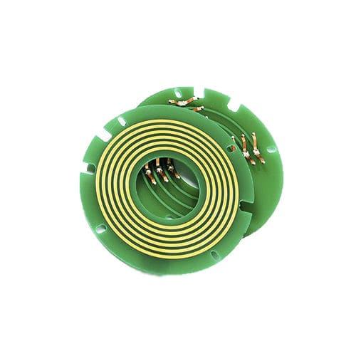 anillo colector eléctrico / USB / de tipo oblea / compacto
