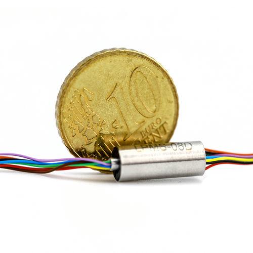 anillo colector electro-óptico / de cápsula / robóticas / para dron