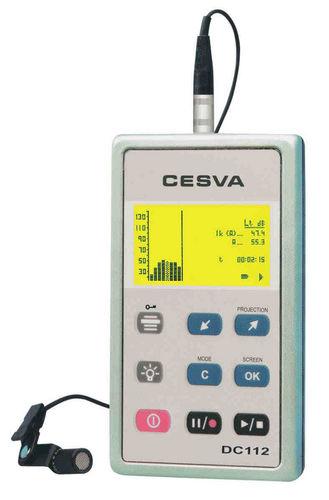 Dosímetro analizador de ruido / personal 2003/10/CE | DC112 CESVA