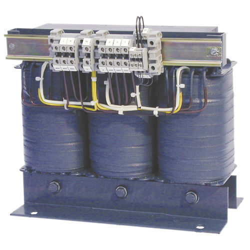 transformador de aislamiento / encapsulado / con 3 bobinas / trifásico
