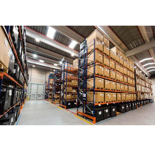 sistema de estanterías con paleta / para cargas pesadas / ajustable / doble profundidad
