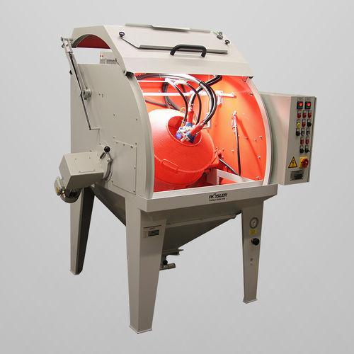 cabina de arenado de presión / manual / con tabla giratoria