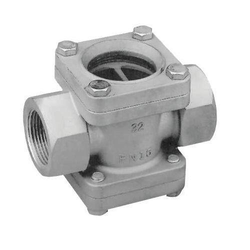 ventanilla de observación para aplicaciones industriales / de acero inoxidable / roscada
