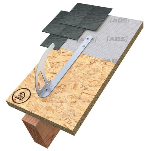 gancho de instalación / tipo J / fijo / para techado
