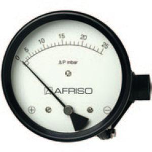 Manómetro de membrana / diferencial / de esfera / de proceso 115 mm, max. 100 mbar AFRISO-EURO-INDEX