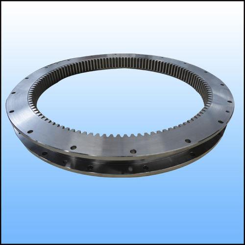 corona giratoria con dientes interiores / de bolas / de una sola hilera / para la robótica