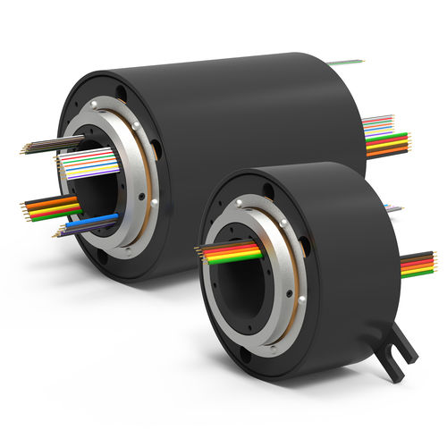 anillo colector eléctrico / de eje hueco / con contactos de oro / de varias vías