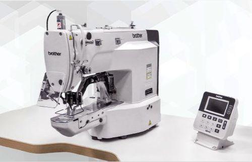 máquina de coser de 1 aguja / para botones / punto anudado / electrónica