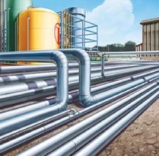 tubería rígida para gas / de acero / sin junta