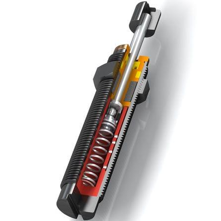 amortiguador de choque / mecánico / para máquina / compacto