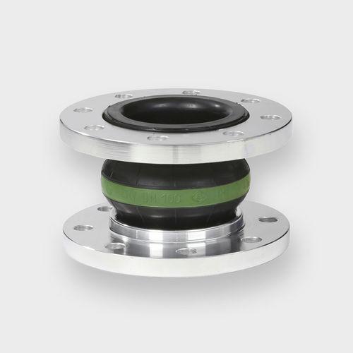 compensador de dilatación de caucho / redondo / de brida / para aguas de desagüe