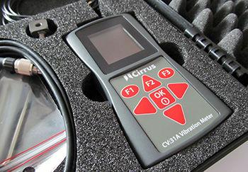 vibrómetro para brazo / portátil / FFT / con registrador de datos