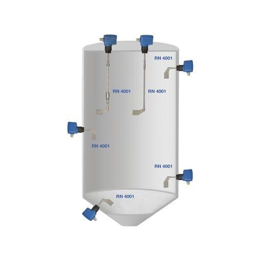 interruptor de nivel de paleta rotativa / electromecánico / para productos a granel / de acero inoxidable