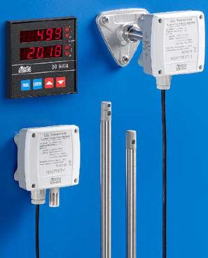 transmisor y de humedad relativa / enchufable / de CO2 / con medida de temperatura