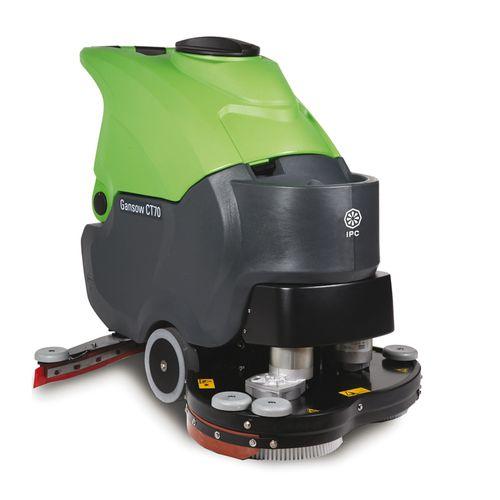 fregadora con operador a pie / alimentada por batería