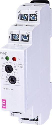 relé de vigilancia de corriente / monofásico / en riel DIN / temporizador