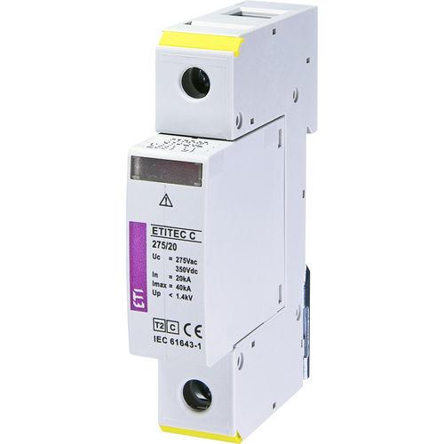 protector de sobretensión de tipo 2 / con descarga de gas / modulable / en riel DIN