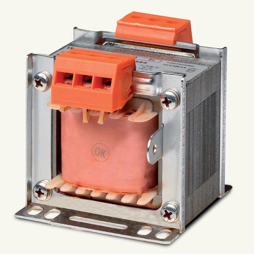 transformador de aislamiento / de tipo seco / monofásico / en riel DIN