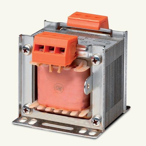 transformador de aislamiento / de tipo seco / laminado / monofásico