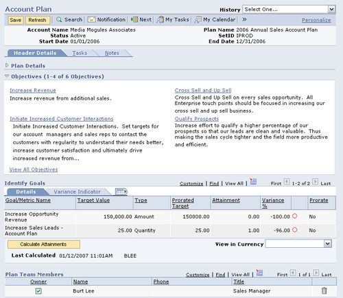 Software CRM / de planificación / nube / en tiempo real Oracle CRM Oracle