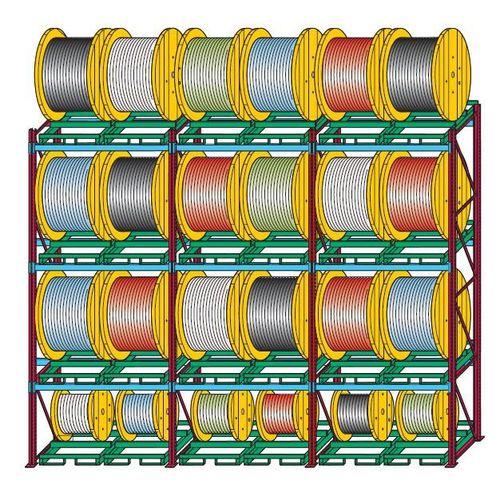 sistema de estanterías con paleta / para cargas pesadas / para rollos
