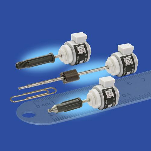 actuador lineal / eléctrico / paso a paso / en miniatura
