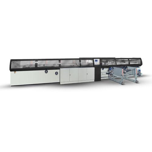 línea de corte para acero inoxidable / de tubos / CNC / automática