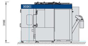 Centro de mecanizado 3 ejes / horizontal G500 GROB-WERKE