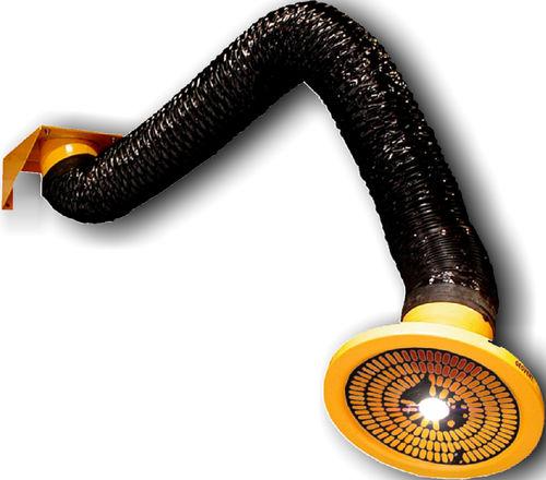 brazo de extracción fijo / flexible / para polvo / de humos de soldadura