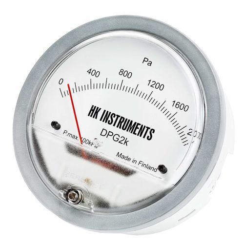 manómetro analógico / de presión diferencial / para aire / para HVAC
