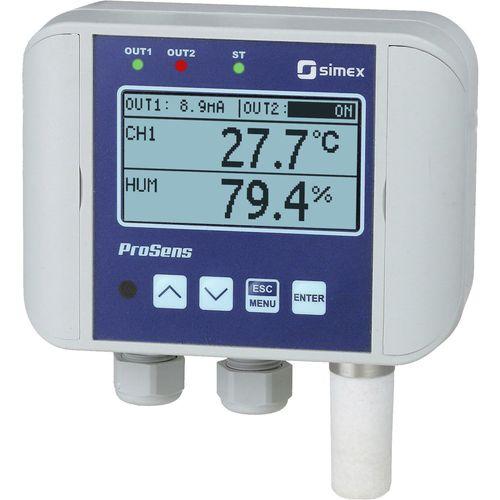 controlador de temperatura con control de humedad / con pantalla LCD / sin visualizador / con doble display