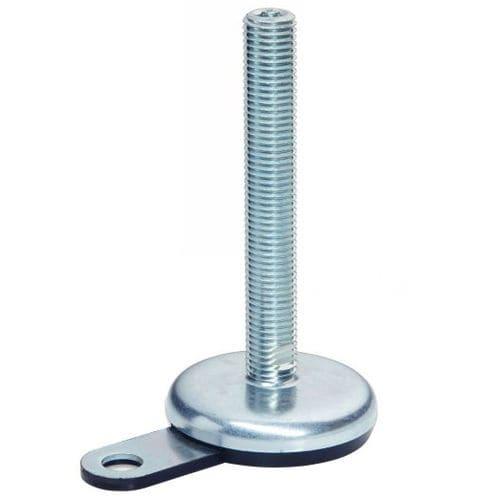 pie de máquina / de acero inoxidable / de acero / antideslizante