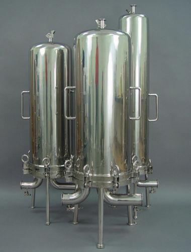 cárter de filtro de cartuchos múltiples / para líquido / de acero inoxidable / sanitario