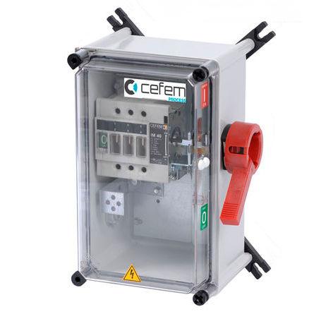 seccionador manual / de baja tensión / en carcasa / de seguridad