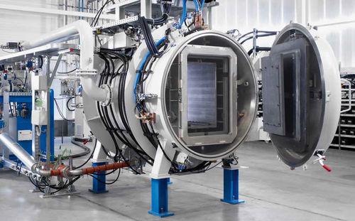 Horno de sinterización / para soldadura blanda / tratamiento térmico / de retorta rotativa COV PVA TePla Group