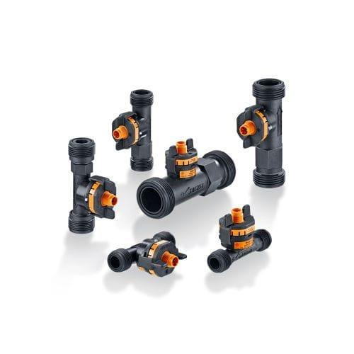 caudalímetro de vórtex / para agua / compacto / con sensor de temperatura