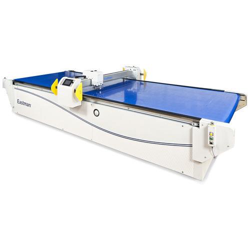 máquina de corte para materiales compuestos / para fibra de vidrio / para textiles / de hoja rotativa