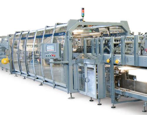 máquina de embalaje automática / con film / de film termorretráctil / de botellas